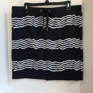 Nautica knit mini skirt with drawstring waist L